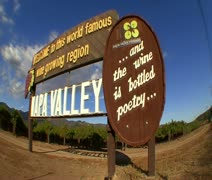 Napa Valley Sign - stock footage