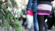 Stock Video Footage of people walking in Rome during Christmas time