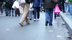 people going shopping - stock footage