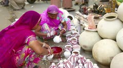 Indian pottery. Stock Footage