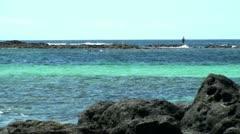 Kalastaja kalastus meressä Fuerteventuran Arkistovideo