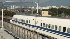 Shinkansen, bullet train, high speed, tracks, railway, Japan Stock Footage