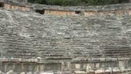 Myra Amphitheater panning Stock Footage
