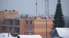 Winter construction 01 - stock footage