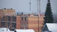 Winter construction 01 Stock Footage