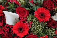 Stock Photo of floral arrangement in red and white