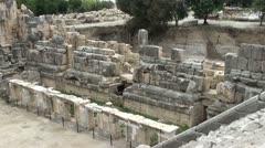 Myra temple ruins close up Stock Footage