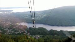 Grouse Mountain Cable Car Stock Footage