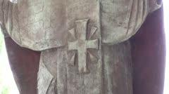 Statue of St. Nicholas at Myra Stock Footage