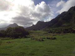 Mountains in Hawaii - stock photo