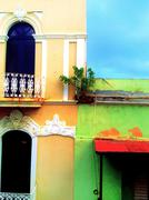 Bright Colored Buildings Stock Photos