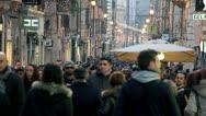 Stock Video Footage of people walking in the street