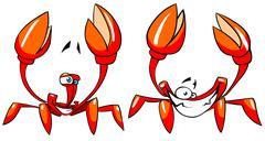 funny crabs - stock illustration
