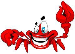Funny crab. - stock illustration
