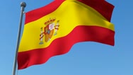 Flag of Spain Stock Footage