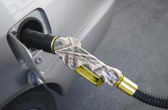 gas pump nozzle - stock photo