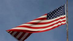 Tattered American Flag - stock footage