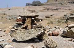 Stock Photo of Little Stones Installation