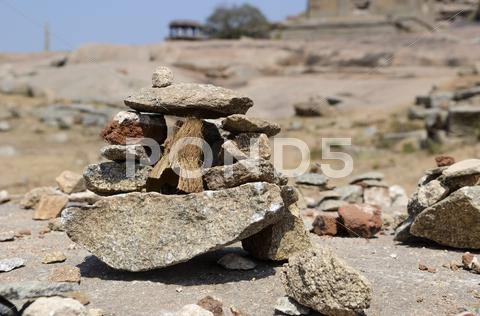 Stock photo of Little Stones Installation