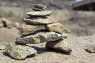 Stock Photo of Stones Installation