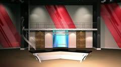 Virtual Set 12 - Establishing Shot Newsroom Studio Background Shot - stock footage