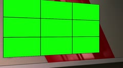 Virtual Set 12 - Standing Newsroom Studio Background Shot Stock Footage
