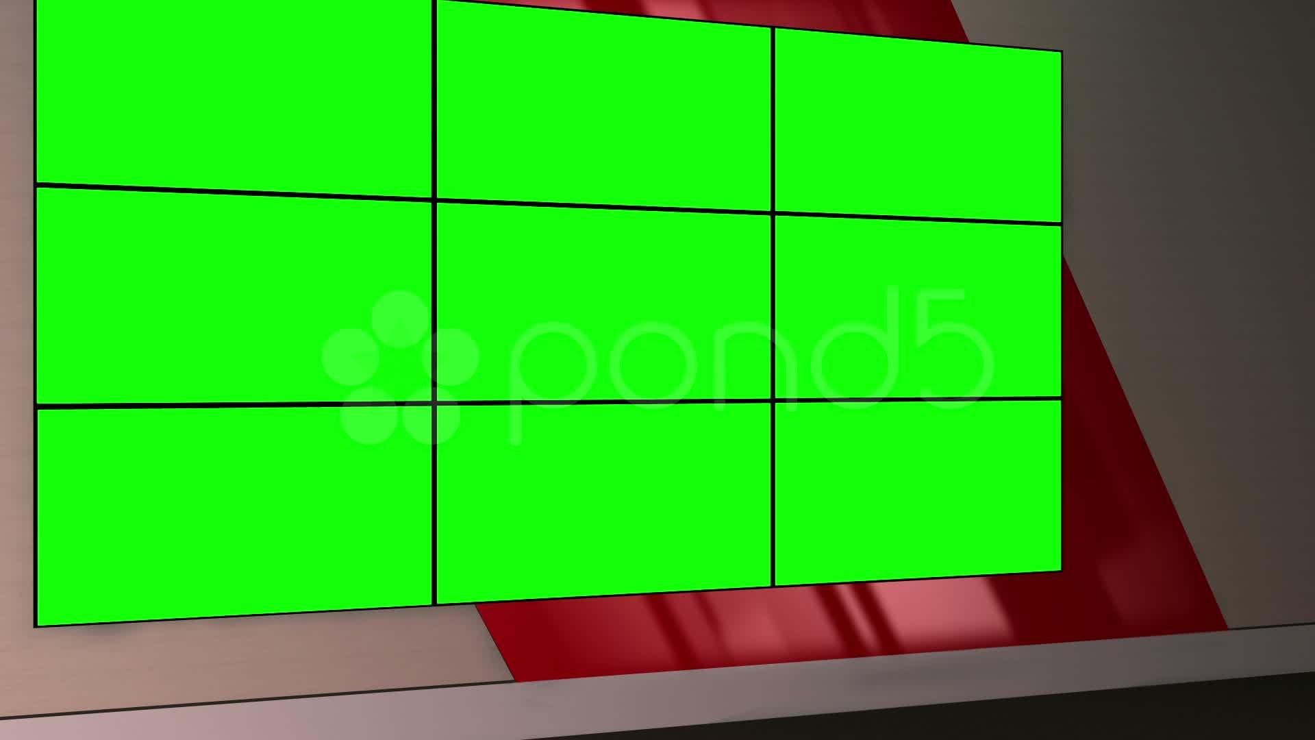 ... Virtual Set 12 - Standing Newsroom Studio Background Shot ~ #20482019