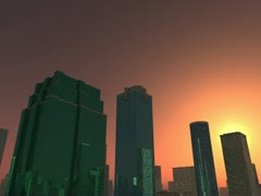 City skyscrapers Animation 3D Stock Footage