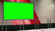 Stock Video Footage of Virtual Set 12 - Balcony Newsroom Studio Background Shot