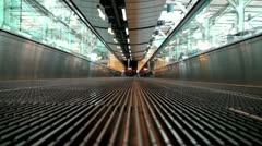 Airport Moving Sidewalk Stock Footage