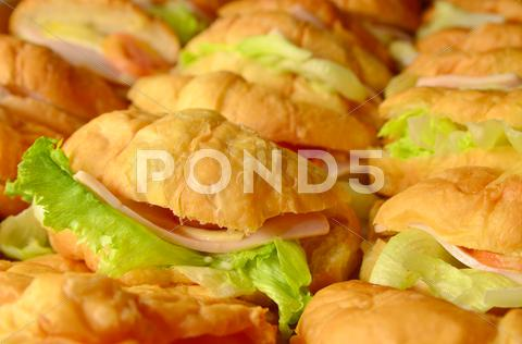 Stock photo of croissant sandwich