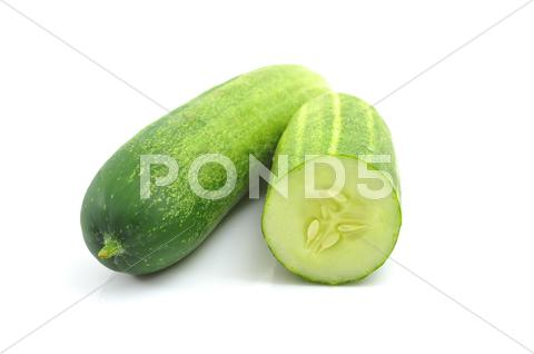 Stock photo of cucumber isolated on white
