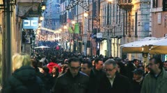 Winter sales in Rome,ITALY Stock Footage