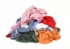 Dirty clothes - stock photo