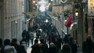Stock Video Footage of people walking on the street