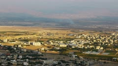 Panoramic view to Jericho, Palestine, Israel Stock Footage