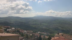 Europe, Italy, a beautiful aerial view of San Marino. Stock Footage