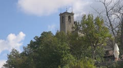 Guaita tower in the Republic of San Marino Stock Footage