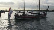 Historic Dutch tug Stock Footage