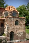 the church of hagia sophia (iznik) - stock photo