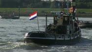 Dutch Historic tugboat Stock Footage