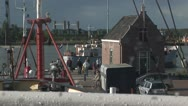 Waterway dock Stock Footage