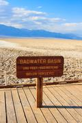 badwater basin, death valley national park, california - stock photo