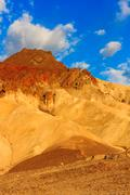 Mountain desert landscape in death valley national park, california Stock Photos