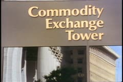 Winnipeg Commodity Exchange sign, Manitoba, Canada - stock footage