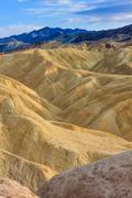 zabriskie point, death valley national park, california - stock photo