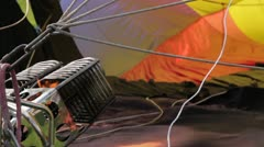 Hot air balloon torch close up - stock footage