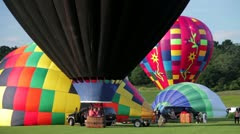 Colorful hot air balloons - stock footage