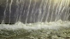 Fountain water falling 04 Stock Footage