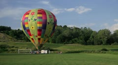 Hot air balloon takes off - stock footage